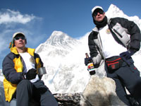Tim and Mark with Everest